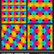 Royalty-Free Stock Vector Image: Colorful geometric pattern set. Vector.