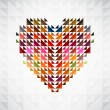 Abstract heart background. Vector. — Vettoriali Stock