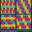 Colorful geometric pattern set. Vector. — Stockvektor