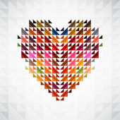 Abstract heart background. Vector. — Stock Vector
