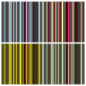 Set of Seamless stripes background pattern — Stock Vector