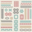 Wektor stockowy : Vector set: graphic design elements and page decoration