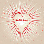 Ročník výstřední srdce pozadí. vektor. — Stock vektor