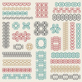 Conjunto de vetores: elementos de design gráfico e decoração da página — Vetorial Stock