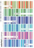Sada barevné bezešvé pruhy — Stock vektor