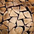 Stack of chopped fire wood — Stockfoto