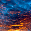 Sunset sky an clouds — Stock fotografie