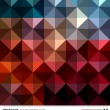 Abstract colorful triangles background. Vector. — Vector de stock #22363855