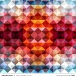 Abstract colorful triangles background. Vector. - Stock Vector