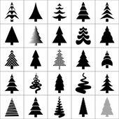 Christamas albero disegno sagoma. vector. — Vettoriale Stock