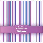 餐厅菜单卡片设计模板。矢量. — 图库矢量图片