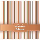 レストラン メニュー カード デザイン テンプレートです。ベクトル. — ストックベクタ