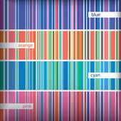 Seamles conjunto padrão de listras. vector. — Vetorial Stock