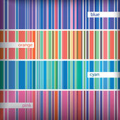 Seamles stripes pattern set. Vector. — Stockvector