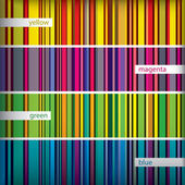 Seamles pattern stripes set. Vector. — Vector de stock