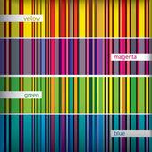Seamles pattern stripes set. Vector. — Stock Vector
