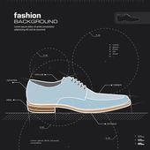 Progettazione di scarpe uomo. vector. — Vettoriale Stock