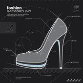 女人的鞋子设计。矢量. — 图库矢量图片
