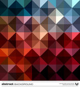 Abstract colorful triangles background. Vector. — ストックベクタ