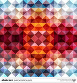Abstract colorful triangles background. Vector. — Vector de stock