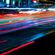 Stock Photo: Car light trails