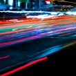 图库照片: Car light trails