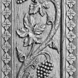 Stok fotoğraf: Wood carved ornament