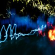 Car light trails — Zdjęcie stockowe