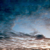 Sunset sky an clouds — Stock Photo