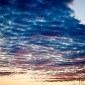 Sunset sky an clouds — Stock Photo