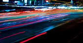 Senderos de luz auto — Foto de Stock