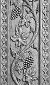 Wood carved ornament — Stockfoto