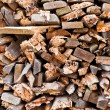 Fire wood background - Stock Photo