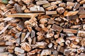 Fire wood background — Stock Photo