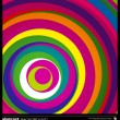 Abstract colorful circles background vector. — Stock Vector #23862933