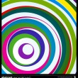 Abstract colorful circles background vector. — Imagens vectoriais em stock