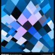 Abstract blue geometric background — Stock Vector