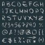 Hand drawn alphabet vector — Stock Vector