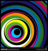 抽象多彩圆圈背景矢量. — 图库矢量图片