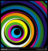 Abstrakt färgglada cirklar bakgrund vektor. — Stockvektor
