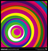 Abstract colorful circles background vector. — Vector de stock