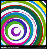 Abstract colorful circles background vector. — ストックベクタ