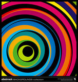 Abstract colorful circles background vector. — Stok Vektör