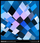 Abstract blue geometric background — Vector de stock