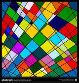 Abstrait géométrique coloré — Vecteur