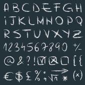 El çekilmiş alfabe vektör — Stok Vektör
