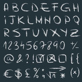 Vector alfabeto dibujados a mano — Vector de stock