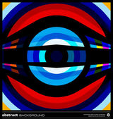 Abstract retro circles background vector — Cтоковый вектор