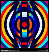 Abstract retro circles background vector — 图库矢量图片