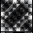 Abstract black and white triangles background. Vector. — Stockvektor